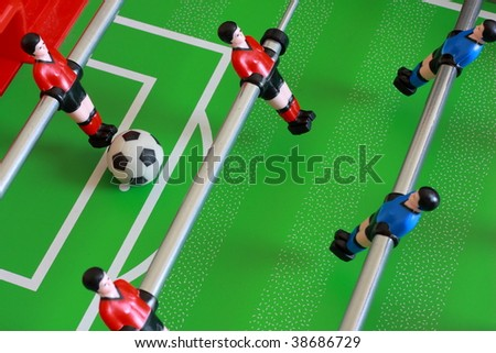 foosball table match 2 - stock photo