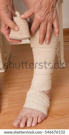 Foot bandaging bandage