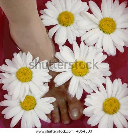 foot bath - stock photo