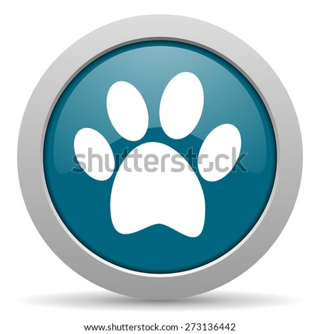 foot blue glossy web icon  - stock photo