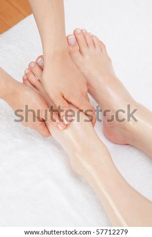 Foot Massage - stock photo