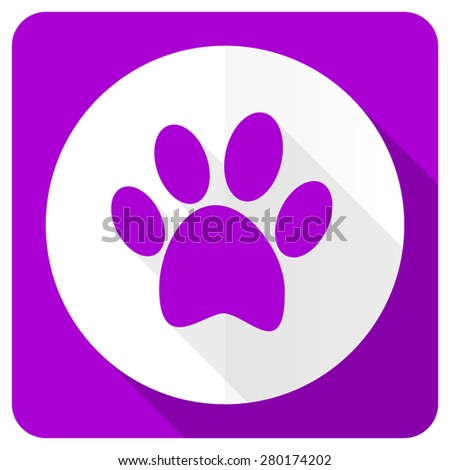 foot pink flat icon   - stock photo