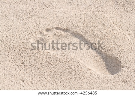 foot print - stock photo