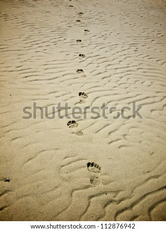 Foot prints - stock photo