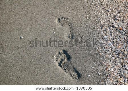 FOOT PRINTS - stock photo