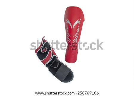 Foot protection in martial arts isolated on white background - stock photo