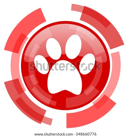foot red glossy web icon - stock photo