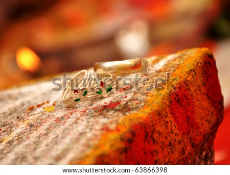 Foot rings in India Marriage - stock photo