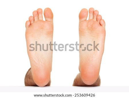Foot stepping isolated - stock photo