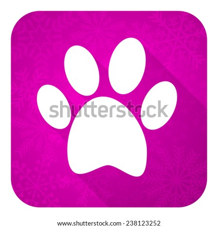foot violet flat icon, christmas button  - stock photo
