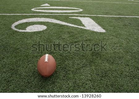 Football along the Twenty - stock photo