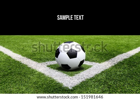 Football and soccer field grass stadium background - stock photo