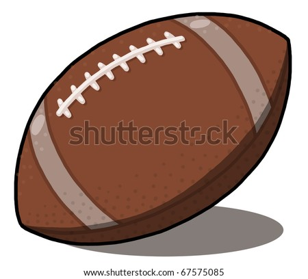 Football ball illustration; Rugby ball illustration