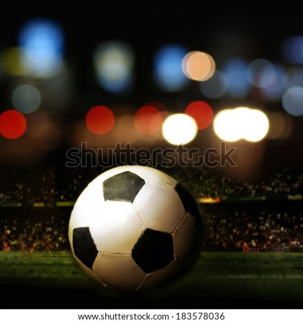 Football ball in the field. - stock photo