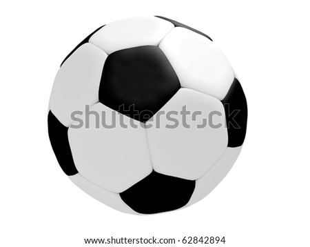 Football ball isolated on the white