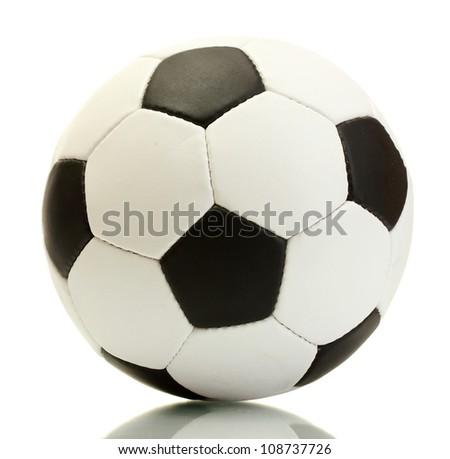 football ball, isolated on white - stock photo