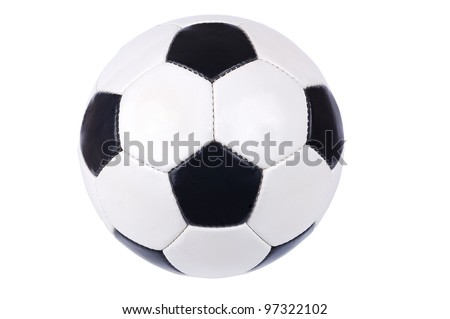 football ball on a white background