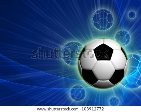 football ball with over blue background with lights