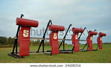 Football Blocking Dummies - stock photo