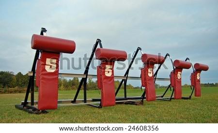 Football Blocking Dummies - stock photo