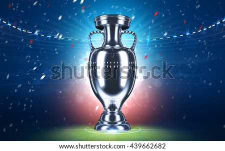Football championship. Cup 2016. Sport concept. 3d render. - stock photo