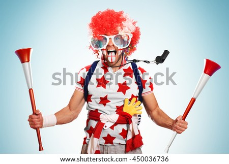 Football fan - stock photo