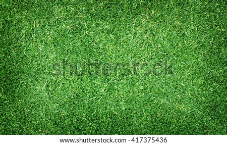 Football field green grass pattern textured background. - stock photo