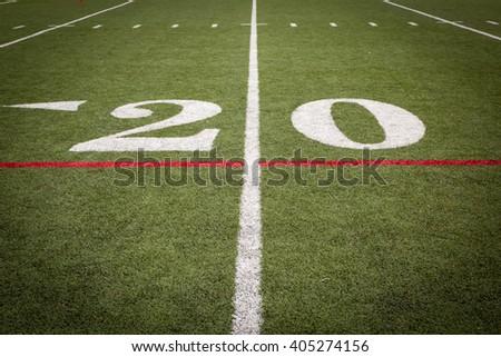 Football Field Markings - stock photo