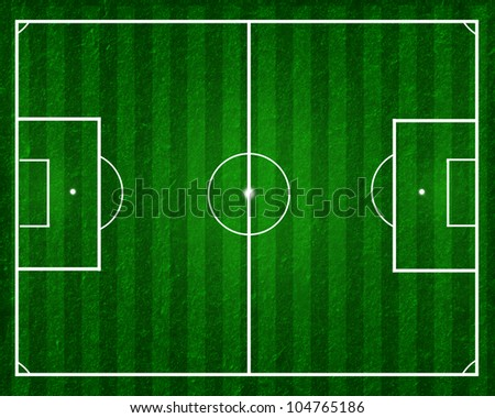 football field, soccer field - stock photo