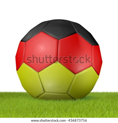 Football - flag of Germany -3 - 3D rendering