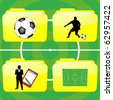 Football folders - stock photo