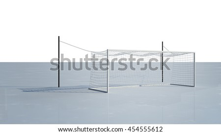 Football Goal 3d rendering on white Background