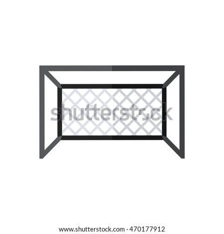 Football goal silhouette. Soccer goal icon in flat style isolated on a white background