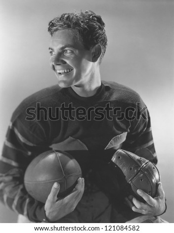 Football hero - stock photo