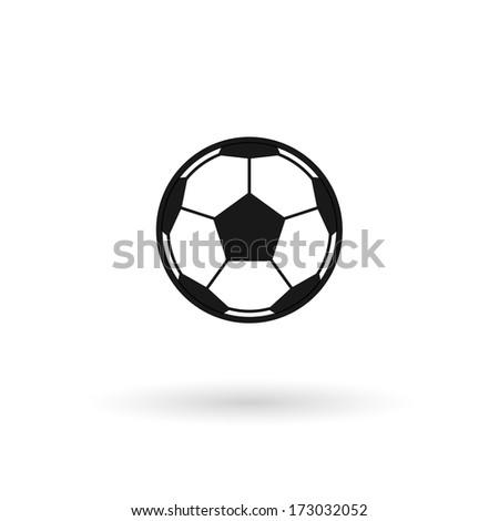 Football icon. Raster version. - stock photo