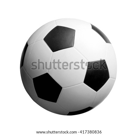 Football. Isolated object on a white background - stock photo