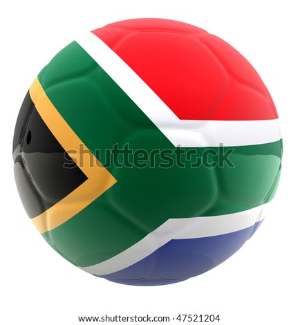 Football of the world cup South Africa 2010 - isolated over white - stock photo