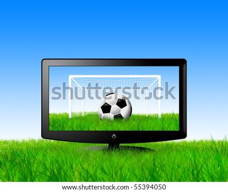 football on television - stock photo