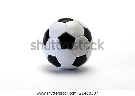 football on white isolated be reflected, - stock photo
