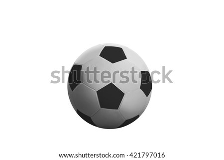 Football or soccer ball isolated over white background - stock photo