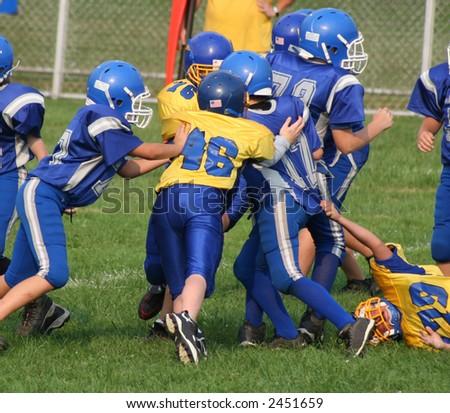 Football Play 1 - stock photo