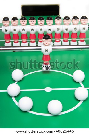 Football player for sale - stock photo