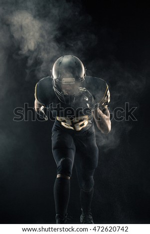 Football player  ready  for the game.