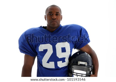 Football Player shot on a white background - stock photo