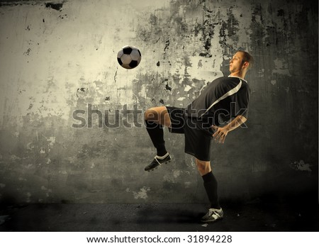 football player training - stock photo