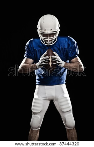 Football Player with a ball - stock photo