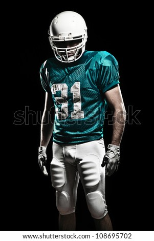 Football Player with number on the uniform. - stock photo
