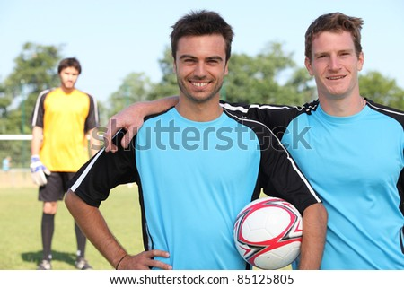 Football players - stock photo