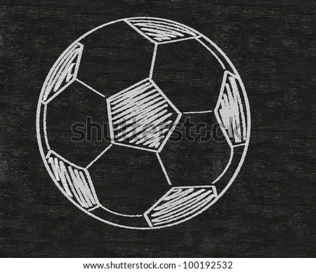 football sketch written on blackboard background high resolution - stock photo