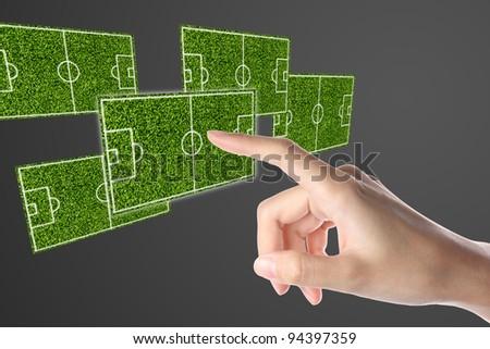 Football Soccer Boardl Plan - stock photo